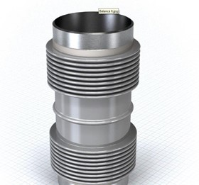SS Expansion joint Bellow DN40-300 Balance II TWIN