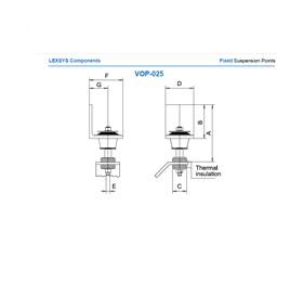Fixed suspension points VOP -25