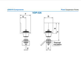 Fixed suspension points VOP -26
