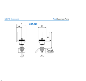 Fixed suspension points VOP -27